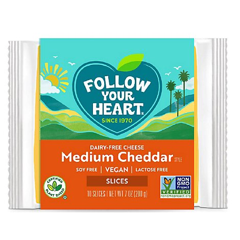 Follow Yo Cheese Med Chdr Slices Nd - 7 Oz