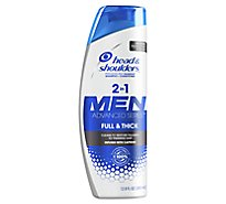 Head & Shoulders Advanced Series Men Shampoo + Conditioner Full & Thick - 12.8 Fl. Oz.