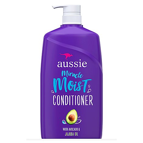 Aussie Miracle Moist Conditioner With Avocado & Jojoba Oil - 26.2 Fl. Oz.