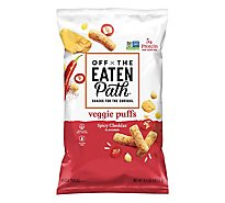 Off The Eaten Path Veggie Ouffs Spicy Cheddar - 4.5 Oz