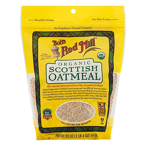 Bobs Red Mill Oatmeal Organic Scottish - 20 Oz