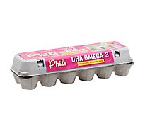 Phils Non Gmo Om3 Dha Brown Eggs - 12 Count
