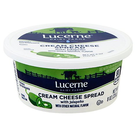 Lucerne Cream Cheese Spread Jalapeno Tub - 8 Oz