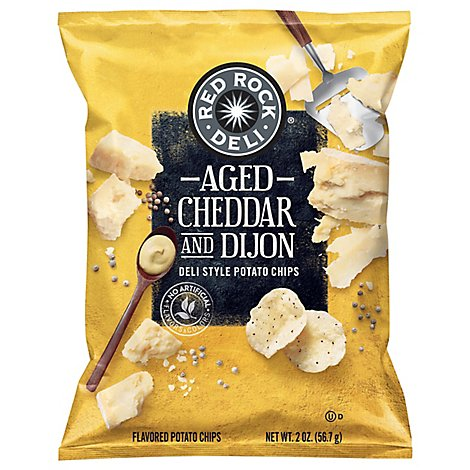 RED ROCK DELI Potato Chips Deli Style Aged Cheddar & Dijon - 2 Oz