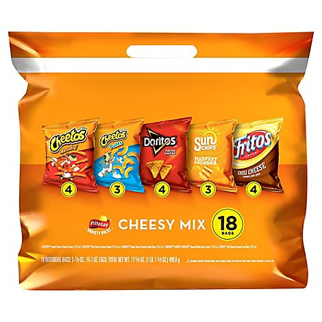 Frito Lay Cheesy Mix Variety Pack - 18 Count