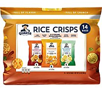 Quaker Popped Rice Crisps Gluten Free Variety Pack - 14-0.67 Oz