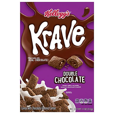 Krave Breakfast Cereal Double Chocolate - 11 Oz