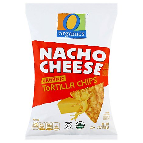 O Organics Organic Tortilla Chips Nacho Cheese - 7 Oz