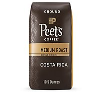 Peets Coffee Ground Medium Roast Costa Rica Finca La Hilda - 10.5 Oz