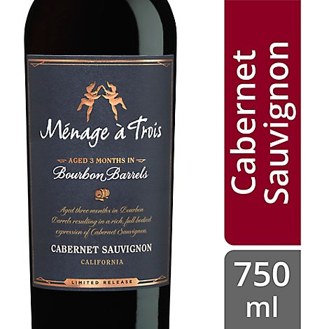 Menage A Trois Bourbon Barrel Red Wine - 750 Ml