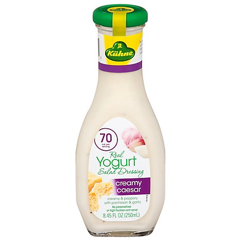 Kuhne Salad Dressing Yogurt Creamy Caesar - 8.45 Fl. Oz.