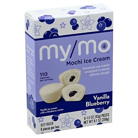 My/Mo Ice Cream Mochi Vanilla Blueberry - 6-1.5 Oz