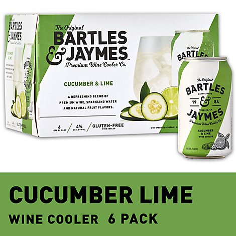 Bartles and Jaymes Cucumber Lime Wine Cooler Cans - 6-355 Ml