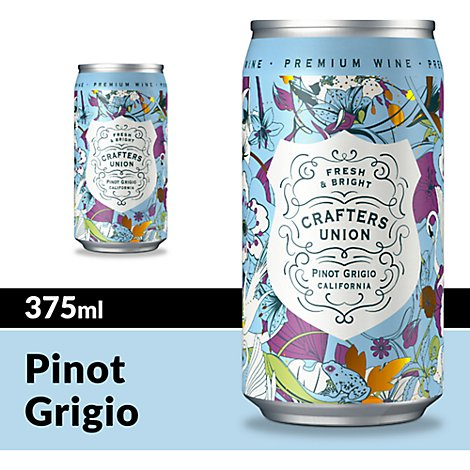 Crafters Union Wine White Pinot Grigio - 375 Ml