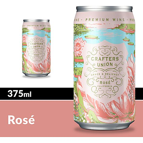 Crafters Union Wine Rose Blush In Can - 375 Ml