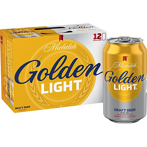 Michelob Golden Draft Light 12 Pack 12 Fz In Cans - 12-12 Fl. Oz.