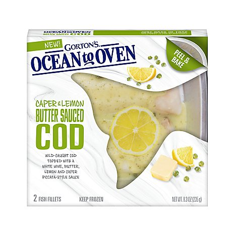 Gortons Cod Caper & Lemon Butter Sauced - 8.3 Oz