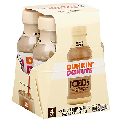 Dunkin Donuts French Vanilla Iced Coffee - 4-9.4 Fl. Oz.