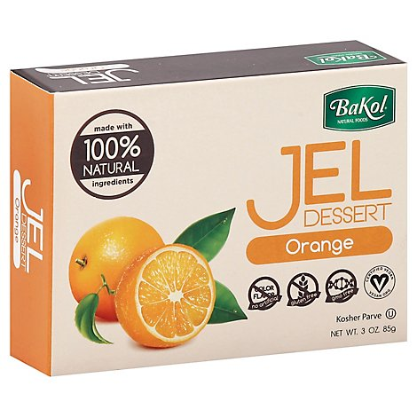 Bakol Jel Dessert Orange - 3 Oz