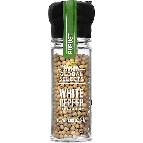 McCormick Gourmet Global Selects White Pepper From Malaysia - 1.69 Oz