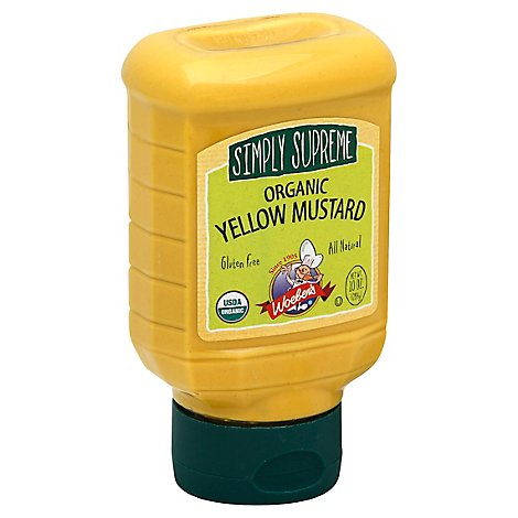 Woebers Simply Supreme Mustard Organic Yellow - 10 Oz