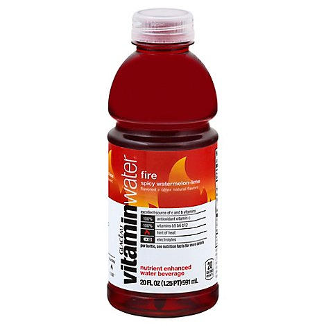 Glaceau Vitaminwater Fire - 20 Fl. Oz.