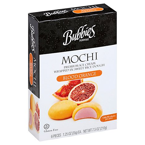 Bubbies Ice Cream Mochi Bld Orng - 7.5 Oz