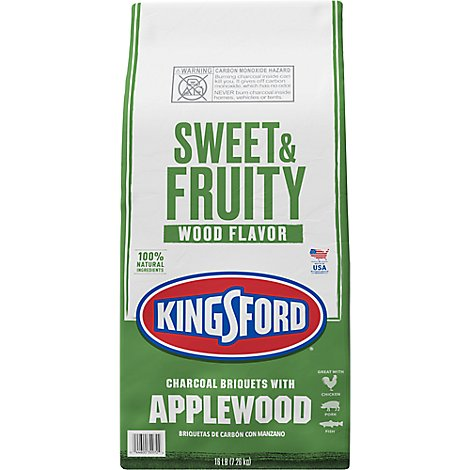 Kingsford Charcoal Briquets With Applewood - 16 Lb