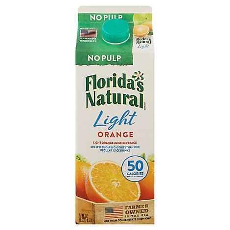 Floridas Natural Light Orange Juice Beverage Chilled - 52 Fl. Oz.