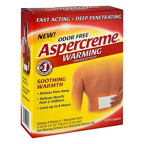 Aspercreme Warming Patch - 5 Count