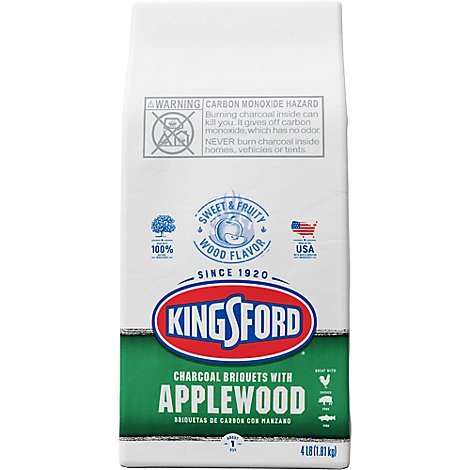 Kingsford Charcoal Briquets With Applewood - 4 Lb