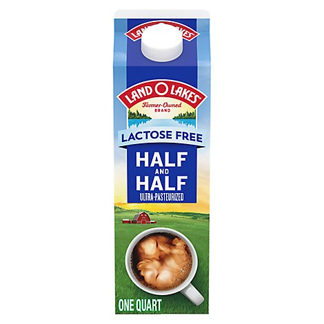 Land O Lakes Half And Half Lactose Free 1 Quart - 946 Ml