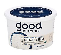 Good Culture Cottage Cheese Organic Whole Milk Classic - 16 Oz