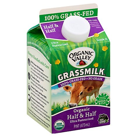 Organic Valley Grassmilk Half & Half Organic 1 Pint - 473 Ml