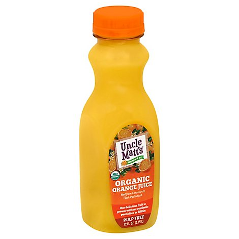 Uncle Matts Juice Organic Orange Pulp Free - 12 Fl. Oz.
