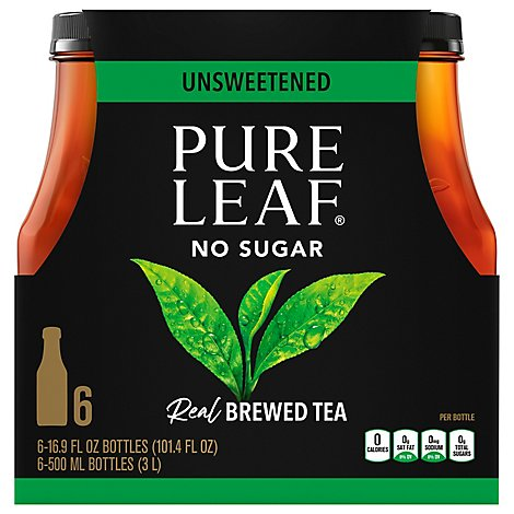 Pure Leaf Unsweetened Iced Tea - 6-16.9 Fl. Oz.