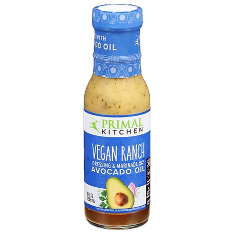 Primal Kitchen Dressing & Marinade With Avocado Oil Vegan Ranch - 8 Oz