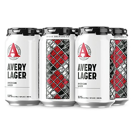 Avery Lager In Cans - 6-12 Oz
