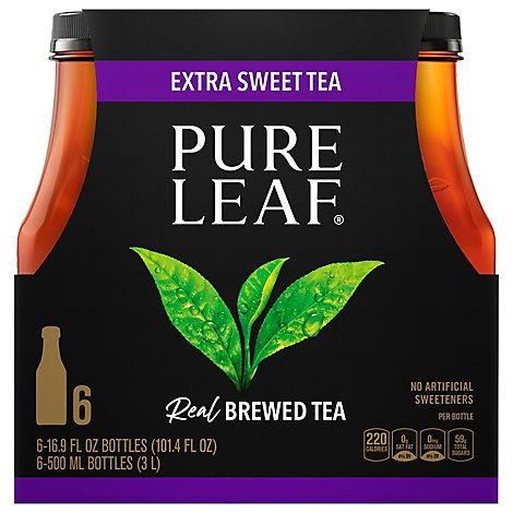 Pure Leaf Tea Real Brewed Extra Sweet Tea - 6-16.9 Fl. Oz.