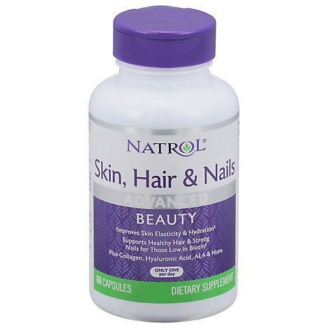 Natrol Skin Hair & Nails Advanced Beauty Capsules - 60 Count