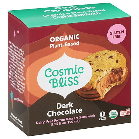 Luna & Larrys Organic Coconut Bliss Sandwich Dark Chocolate - 5.25 Fl. Oz.