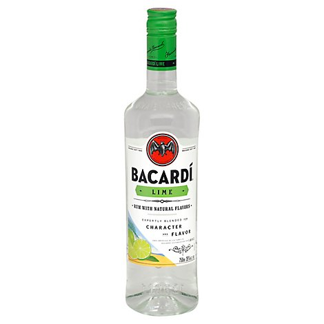Bacardi Rum Lime 70 Proof - 750 Ml
