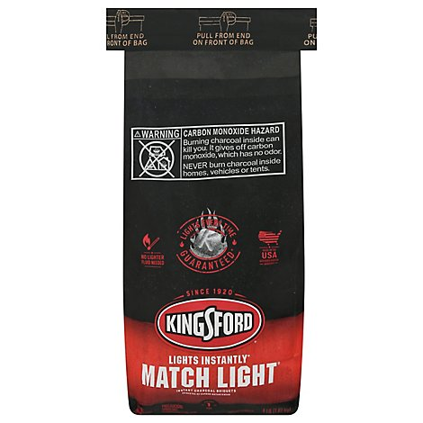Kingsford Charcoal Briquets Match Light - 4 Lb