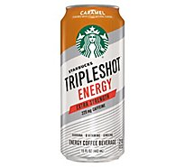 Starbucks Tripleshot Energy Coffee Beverage Extra Strength Caramel - 15 Fl. Oz.