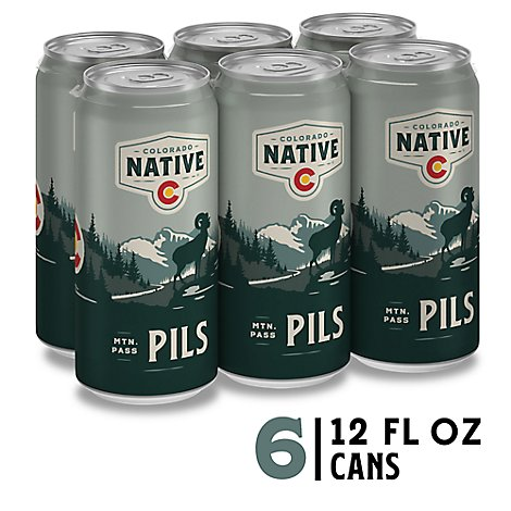 Colorado Native Beer Pilsner Can - 12 Fl. Oz.