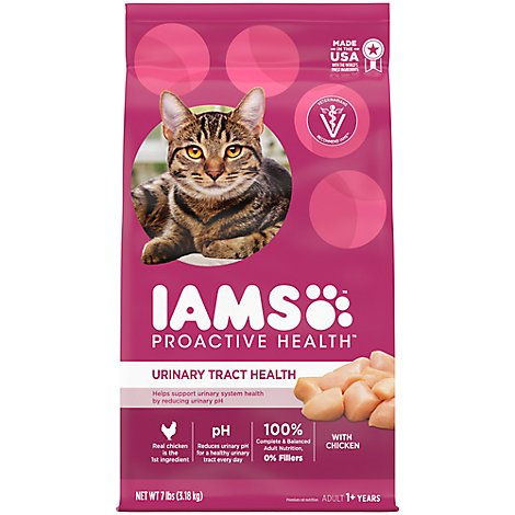 IAMS Proactive Health Cat Food Adult Dry Urinary Tract Health With Chicken - 7 Lb