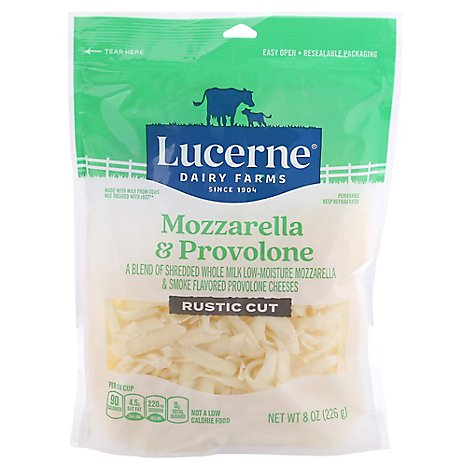 Lucerne Mozzarella Provolon Cheese Shred - 8 Oz