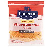 Lucerne Sharp Cheddar Cheese Shred - 32 Oz