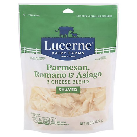 Lucerne Parmesan Romano Asiago Cheese Shred - 6 Oz