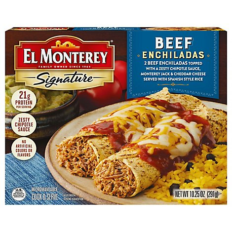 El Monterey Signature Frozen Entree Enchiladas Microwavable Cook & Serve Beef - 10.25 Oz